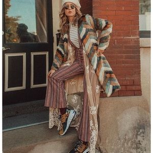 Anthropologie Striped Overalls Jumpsuit Moon River